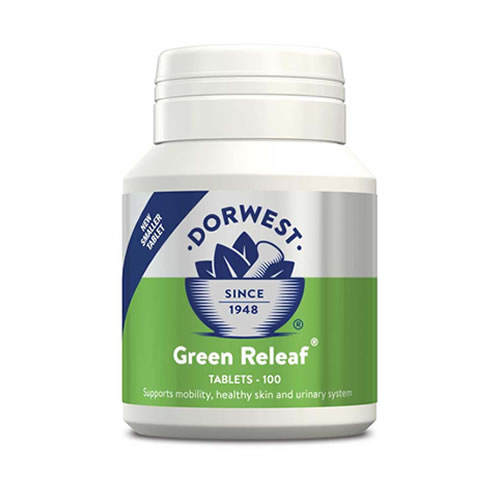 DORWEST Green Releaf Tablets For Dogs And Cats 100 tablets