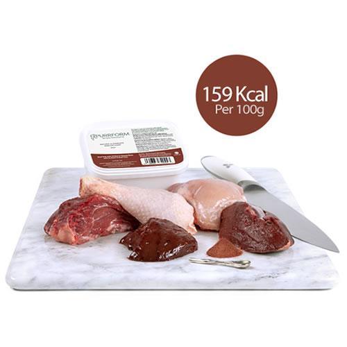 Minced Beef Trim with Chicken, Ground Bone, Ox Heart & Beef Liver (Kitten)