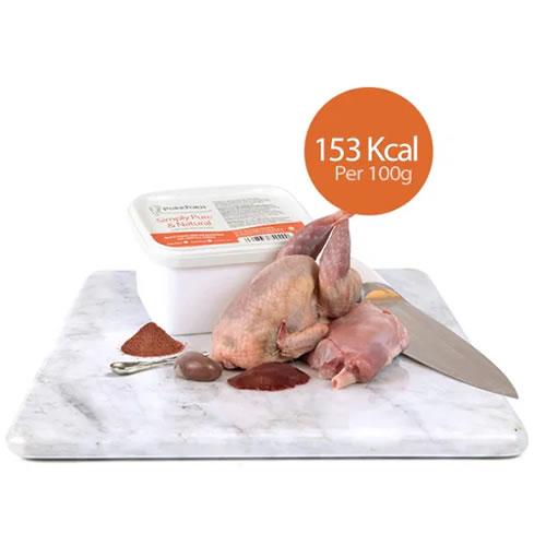 Minced Quail, Farmed Rabbit, Ground Bone with Liver & Kidney (Kitten)