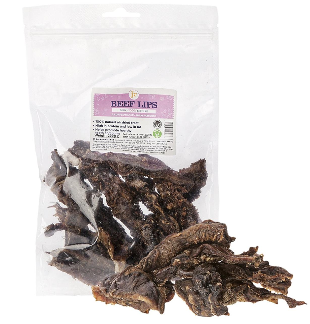 JR Pet Beef Lips Natural Air Dried